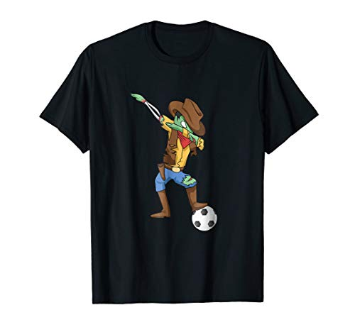Cute Halloween Soccer Shirt with Cowboy Zombie ()