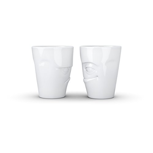 Fiftyeight Cup Set #2/Amused and Perplexed White