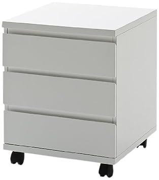 FineBuy Rollcontainer HELLA 42x59x42cm Schreibtischcontainer weiß Bürocontainer