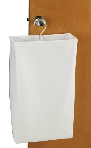 Household Essentials 148 Hanging Cotton Canvas Laundry Hamper Bag | White by Household Essentials (Image #3)