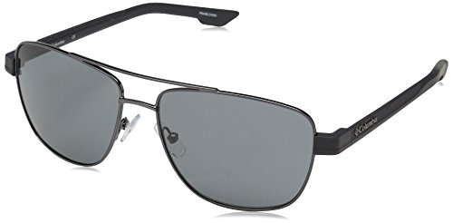 Columbia Men Aviator - Columbia Men's Vamoose Aviator Sunglasses, Gunmetal, 57 mm