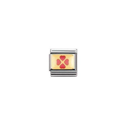 Nomination - 030205 - Maillon pour bracelet composable Mixte - Acier inoxydable et Or jaune 18 cts
