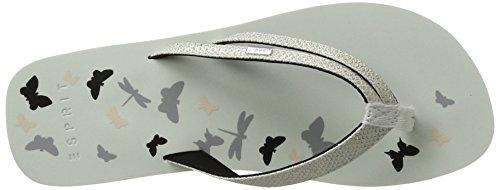 ESPRIT Damen Diva Butterfly Pantoletten Weiß (White)