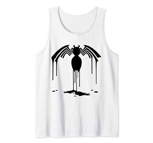 Marvel Venom All Black Paint Drip Logo Tank Top ()