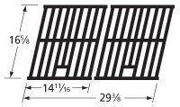 Set Cooking Outdoor Gourmet (Music City Metals 65112 Matte Cast Iron Cooking Grid Replacement for Select Outdoor Gourmet and Shinerich Gas Grill Models, Set of 2)