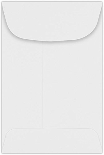 Wholesale #4 Coin Envelopes (3 x 4-1/2) - 24lb. Bright White (50 Qty.) | Perfect for storing Small Parts, Coins, Jewelry, Stamps, Seeds, Small Electronic Parts and so much more! | 94771-50 for sale