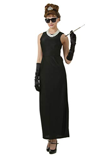 Plus Size Breakfast at Tiffany's Holly Golightly Costume 3X Black]()