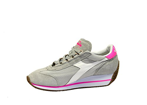 Diadora Heritage Women's 201156030C6163 Grey/Pink Fabric Sneakers