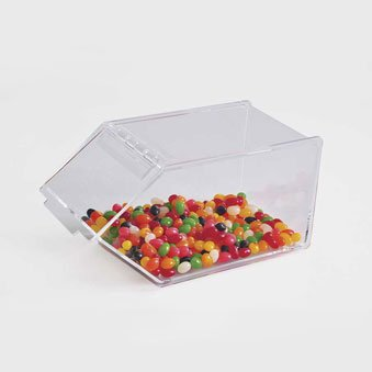 Mini Stackable Candy Bins - Commercial Grade Food Bins (Small) | Acrylic Bins by Choice Acrylic (Stackable Topping Dispenser)