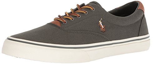 Polo Ralph Lauren Men's Thorton Sneaker, Olive, 11 D US