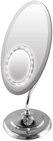 Rucci Ellipse with LED Lighted Suction Mirror