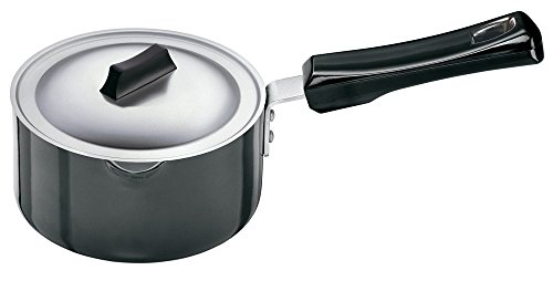 Futura Hard Anodised Sauce Pan 1.0 Litre with Steel Lid and Pouring Spout