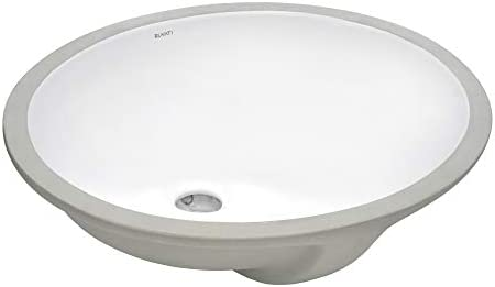 Ruvati 18 x 14 inch Undermount Bathroom Vanity Sink White Oval Porcelain Ceramic with Overflow – RVB0619