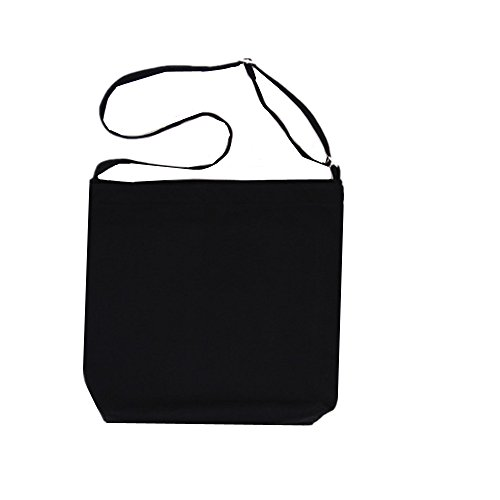 Abaddon Canvas Shoulder Bag Casual Big Shoppingbags Tote Handbag Travel Bags for Women Girls Ladies (Deep black)