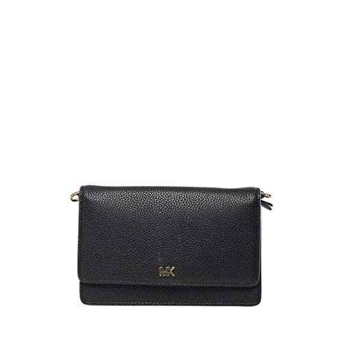 MICHAEL Michael Kors Phone Crossbody Black One Size (Convertible Leather Bag)