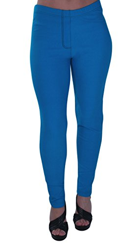 Eyecatch - Starla Womens Stretch Jeggings, Ladies Trousers Jeans Plus Size Pants 14-28 Turquoise