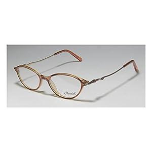 D&A Chantel Coco Womens/Ladies Designer Full-rim Flexible Hinges Eyeglasses/Eyewear (49-16-135, Transparent Brown / Gold / Rose)