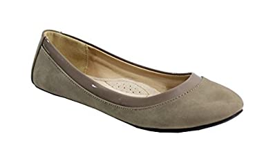 By Shoes - Ballerine Plate Style Velours - Femme