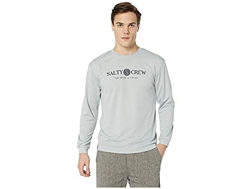 Salty Crew Men's Railed Long Sleeve Tech Tee Silver Medium