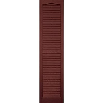 Vantage 0114059027 14X59 Louver Arch Shutter/Pair 027, Cambridge Red by The TAPCO Group - DROPSHIP