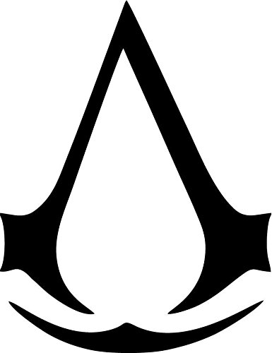 Amazon Video Games Assassins Creed Logo Red 16 Inch Die Cut