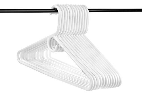 (Neaties USA Made Super Heavy Duty White Plastic Hangers, 12pk)