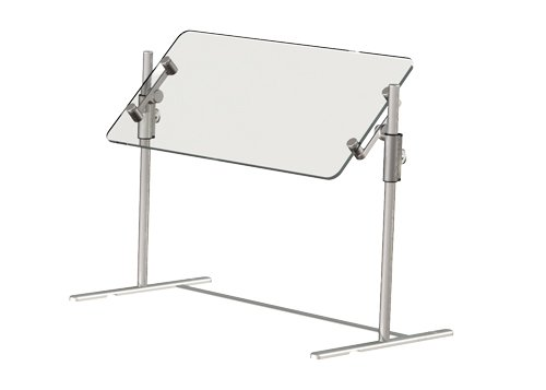 BSI ZG9600 ZGuard Brushed Aluminum Portable Market Guard, 35'' Length x 18'' Width x 18'' Height by BSI Designs