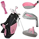 Golf Girl Junior Club Set for Kids Ages 8-12 RH w/Pink Stand Bag
