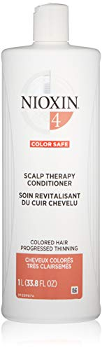 Nioxin Scalp Therapy Conditioner, System 4 (Color Treated Hair/Progressed Thinning), 33.8 Fl - System Therapy Scalp