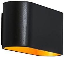 Qazqa Design Modern Wandleuchte Alone Schwarz Gold Messing