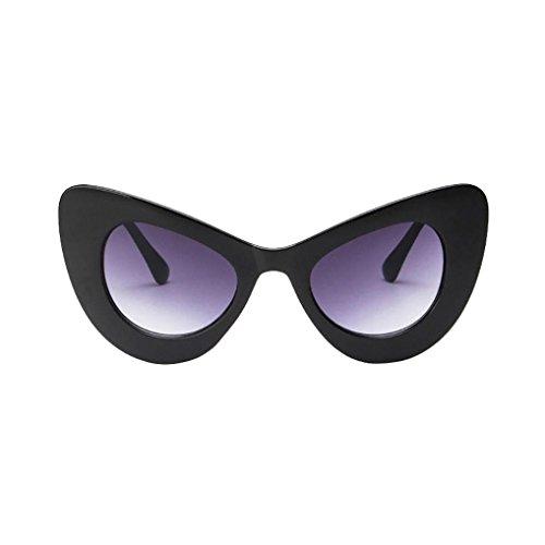 Women Sunglasses, Limsea Classic Cat Eye Big Oversized Thick Gothic Plastic Vintage Sunglasses (H)