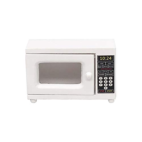 - Microwave Oven for 1:12 Mini Dollhouse Kitchen Furniture- Gbell Mini Dollhouse Kitchen White Microwave Oven Miniatures Accessory Pretend Toys Gifts for Little Girls Gifts (White)