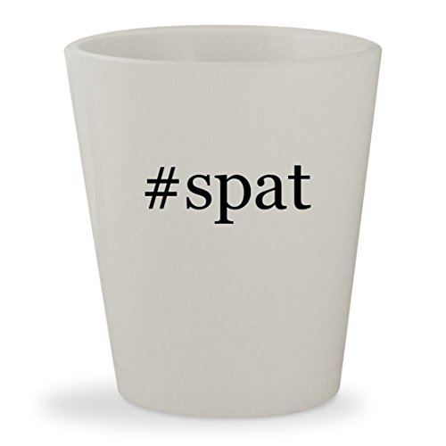 #spat - White Hashtag Ceramic 1.5oz Shot (Mens Spats Pattern)