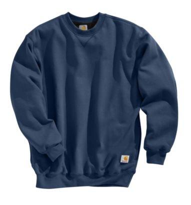 Carhartt Men's Thermal Lined Sweatshirt Crewneck Original Fit,Black  (Closeout),Small ()