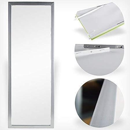 DRULINE T/ürspiegel T/ür Spiegel H/ängespiegel Rahmenspiegel 35x95cm schwarz weiss grau