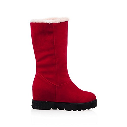 Girls Frosted Heighten 1TO9 Red Platform Foldable Inside Boots Fwq6U6d