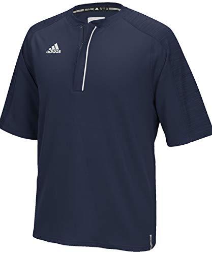 adidas Climalite Modern Varsity Short Sleeve 1/4 Zip - Collegiate Navy - Medium