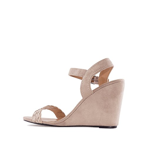 Andres Machado AM5133.Wedge Sandals in Suede.Petite&Large Sizes: UK 0.5 to 2.5/EU 32 to 35 - UK 8 to 10.5/EU 42 to 45. Beige Suede YKjAgp1m