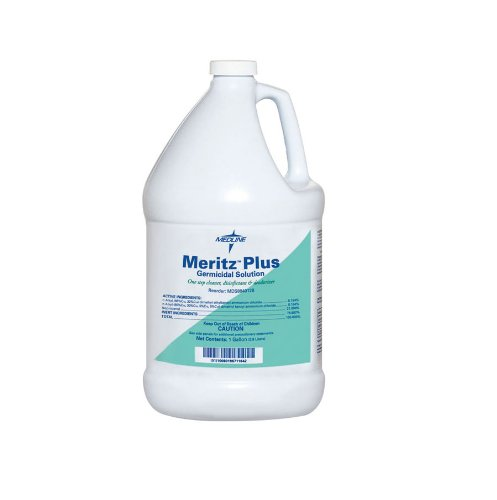 Medline MDS8840128 DISINFECTANT, MERITZ PLUS, 1 GAL (Case of 4)