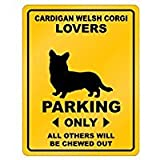 Cardigan Welsh Corgi Lovers Parking - Dogs - Parking Sign [ Decorative Novelty Sign Wall Plaque ]