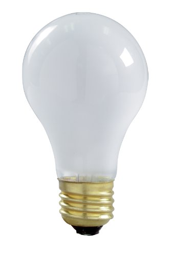 100w 130v A19 Medium Base (Satco S6010 130-Volt 100-Watt A19 Left Hand Thread Medium Base Light Bulb, Frosted)