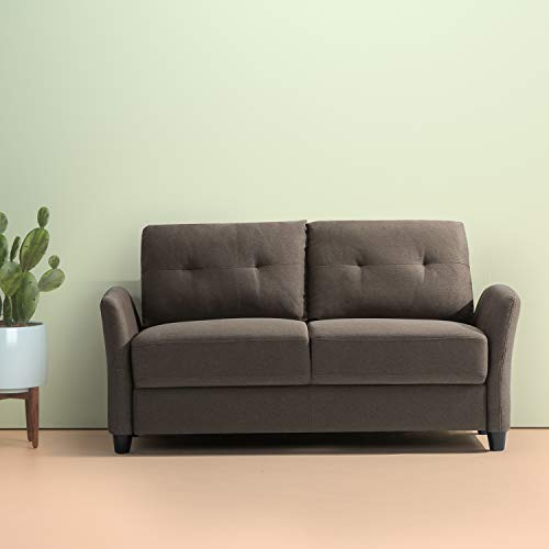 Zinus Ricardo Contemporary Upholstered 62.2 Inch Couch / Loveseat, Chestnut Brown ()