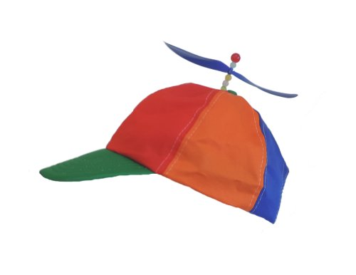 Adult Multi-Colored Baseball Spinning Propeller Hat ()