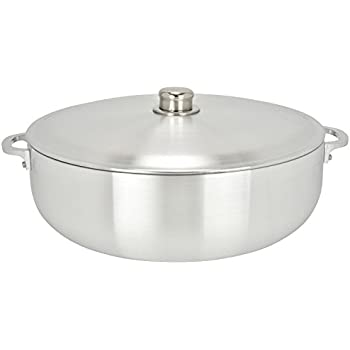 ALUMINUM CALDERO STOCK POT by Chef Pro, Aluminum, Superior Cooking Performance for Even Heat Distribution, Perfect For Serving Large and Small Groups, Riveted Handles, Commercial Grade (18.3 Quart)