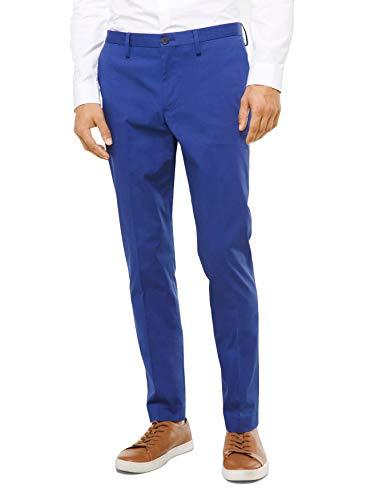 Michael Kors Mens Slim-Fit Stretch Cotton Trousers/Pants (Coast Blue, 30W x 32L)