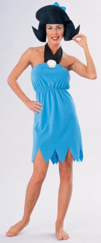 [Women'S Costume: Flintstones' Betty Rubble- Large - Product Description - Fred And Wilma Flintstone'S Best Friend And Next Door Neighbor- Betty Rubble. Blue Halter-Style Dress With Neck Tie Accent And Scalloped Bottom. Includes Foam Cloth Wig. A] (Wilma Flintstone And Betty Rubble Costumes)