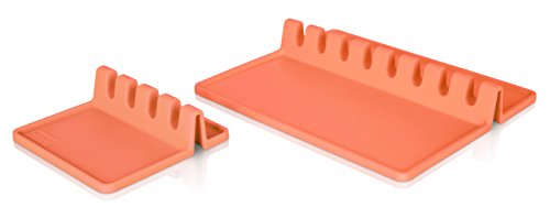 Tomorrow's Kitchen 4670550 Utensil Rest XL Coral, Set of 2 Coral