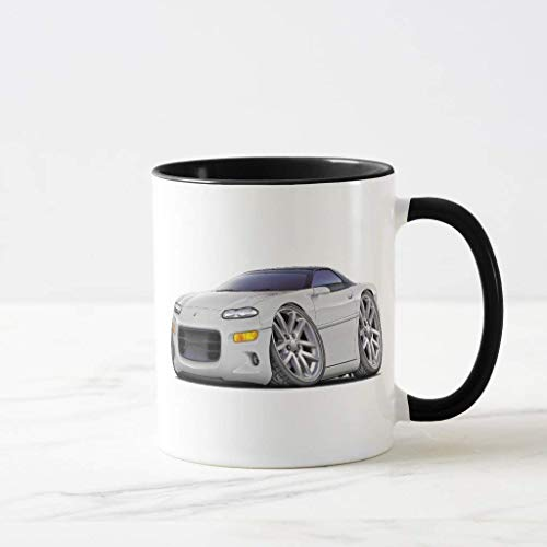 FiuFgyt 1998-2003 Camaro White Car Beer Stein Black Coffee Mugs Quote Motivational Mug Cup Funny Ceramic Cup 11oz