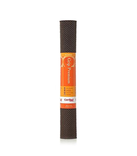 Con-Tact Brand Grip Premium, 04F-C6L1B-06, Non-Adhesive Non-Slip Shelf Liner and Drawer Liner, Chocolate, 12