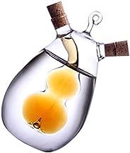 Cabilock Dispensador de óleo de vidro 2 em 1 para vinagre, garrafa de molho de soja, recipiente para cozinha,